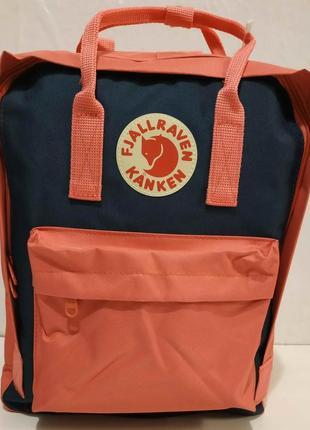 Тканевый рюкзак kanken (коралловый с синими вставками) 19-11-031