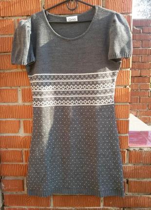 Платье-туника теплое акриловое gina