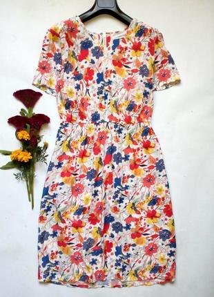 Лёгкое вискозное платье в цветочный принт 14