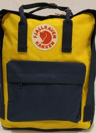 Тканевый рюкзак kanken (синий с жёлтыми вставками) 19-11-031
