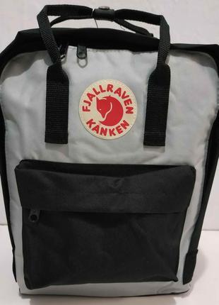 Тканевый рюкзак kanken (чёрный с серыми вставками) 19-11-031