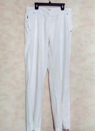 Белые льняные брюки премиум бренд mint velvet, m-l