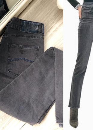 Стильные джинсы armani с высокой посадкой 26
