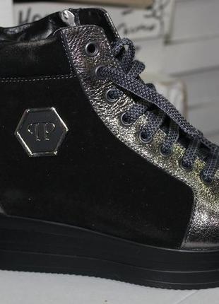 Новогодние скидки, зима, кроссовки ботинки, платформа, с 36-40р7 фото