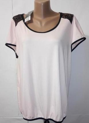 Блуза персиковая нарядная с кружевной спинкой george uk 16-18 большой размер