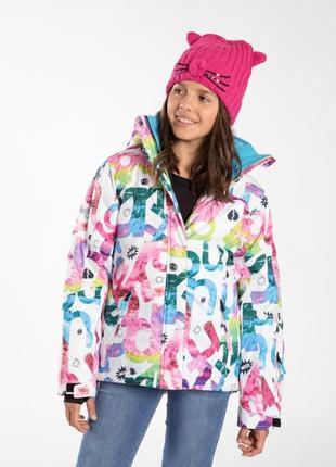 Стильный зимний комплект для девочки из куртки и штанов