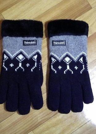 Мужские перчатки, рукавицы thinsulate шерсть