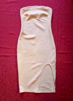 Платье футляр бюстье