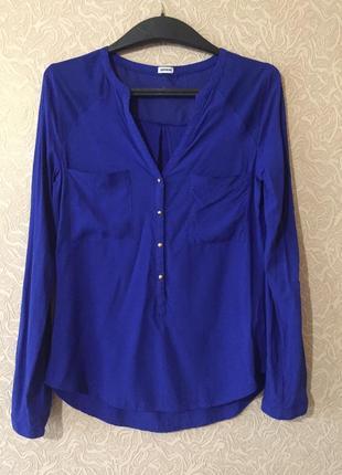 Роскошная фирменная блуза, рубашка pimkie с длинным рукавом, размер s, вискоза