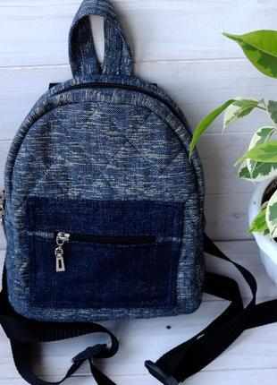 Джинсовый рюкзак 01, небольшой джинсовый рюкзак