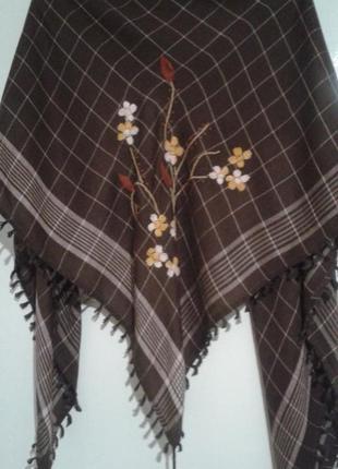 Платок с вышивкой pieces accessories большой теплый хустина