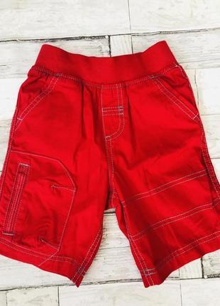 Красные яркие шорты бриджи для мальчика на резинке