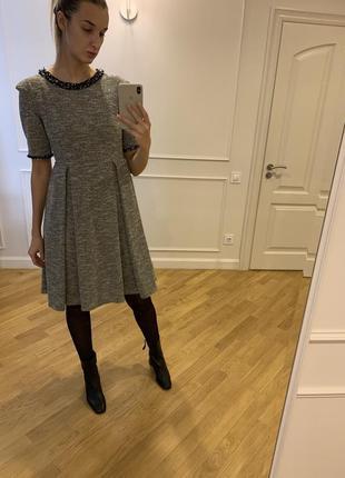 Твидовое платье в стиле chanel