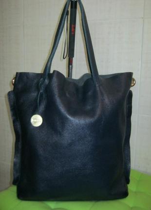 Furla.италия.нат.кожа сумка - шоппер.