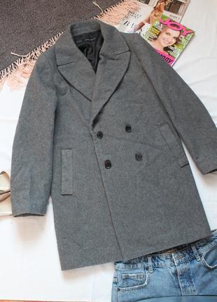 Серое пальто зара размер 50 хл zara женское пальто оверсайз