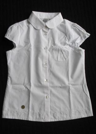 Школьная белая блузка, рубашка tu на 9-10 лет, 140 см