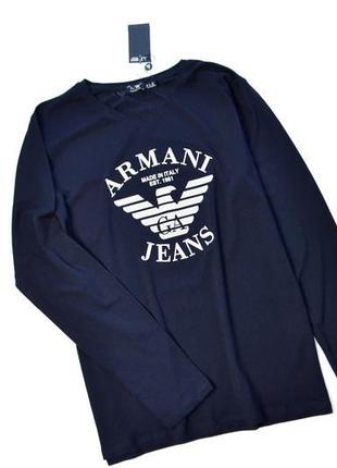 Кофта мужская armani jeans  темно-синяя