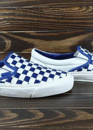 Оригінальні кеди vans slip on checkerboard leather крутые кеды