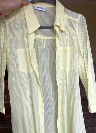 Блузка ярко желтая