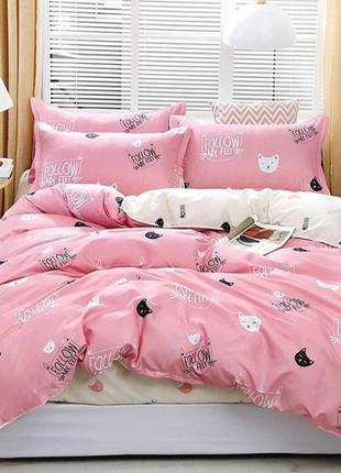 Комбинированный комплект постельного белья, котики, все размеры