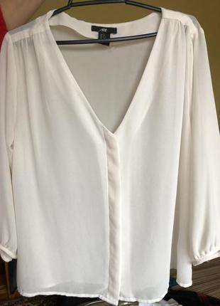 Блузка новая h&m, классическая белая
