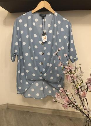 Очень стильная блузка свободного кроя, ассиметричная блузка,