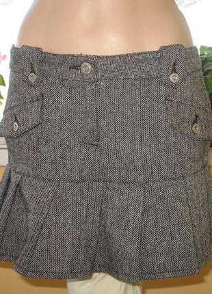 Полушерстяная юбка размер 34/42/xs