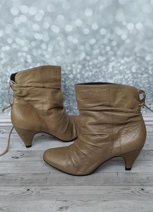 37р кожа! новые san marina франция кожаные ботинки,полусапожки