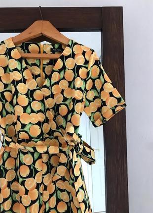 Яркий льняной комбинезон в апельсины
