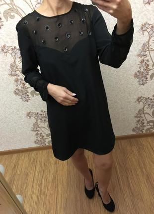 Чёрное прямое платье broadway