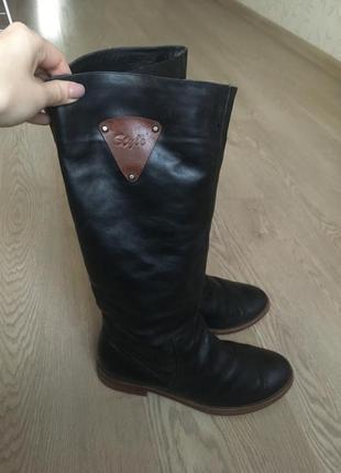 Чёрные кожаные сапоги от sharman