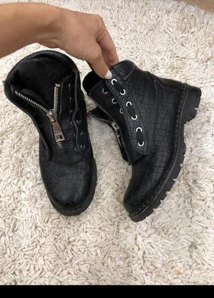 Осенее ботинки ,кожа