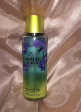 Marine chill - теплый парфюмированый спрей для тела от victoria's secret.