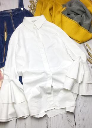 Удлиненная белая рубашка с красивым рукавом next