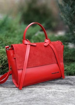 Женская сумка натуральный замш +эко кожа