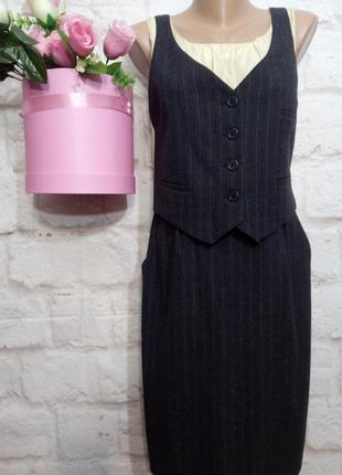 Платье миди теплое вискоза шелк р 12 tom tailor