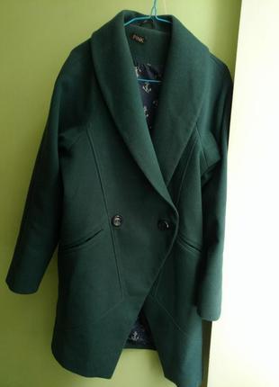 Пальто кашемировое деми м зеленое оверсайз демисезонное бойфренд