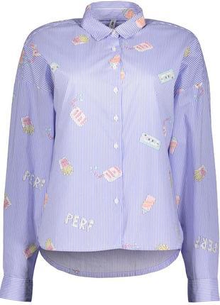 Трендовая рубашка блуза большого размера