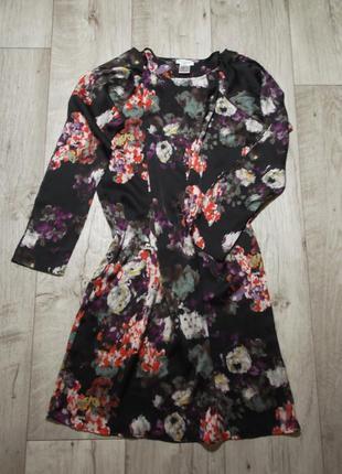 Прямое платье-футляр акварель la redoute, франция, р.m