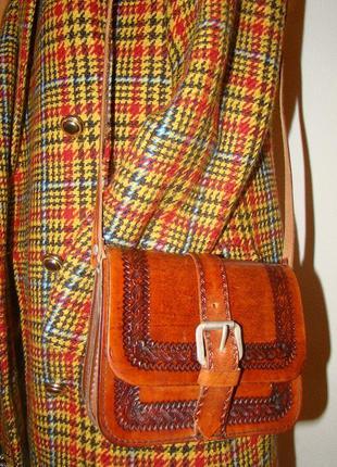 Винтажная сумочка кросс-боди ручной работы