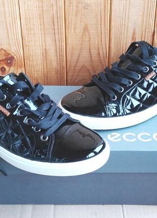 Стильные кожаные комфортные туфли мокасины ecco кроссовки ботиночки оригинал в коробке