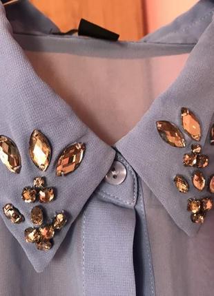 Блуза блузка с воротником