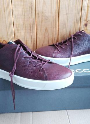 Кожаные новые стильные мокасины ecco кроссовки ботиночки оригинал в коробке