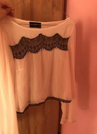 Блуза с мереживом /кружевная