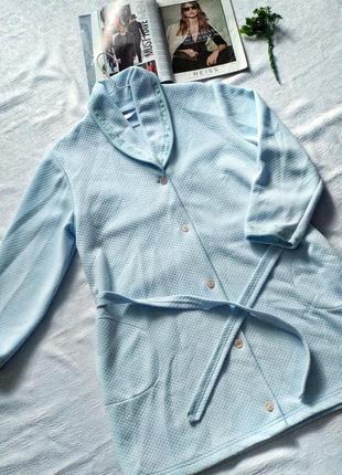 Милый халатик небесно-голубого цвета