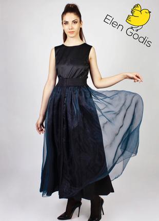 Нарядная тёплая юбка клеш/из шерсти/двусторонняя/теплая/серая/от дизайнера elen godis