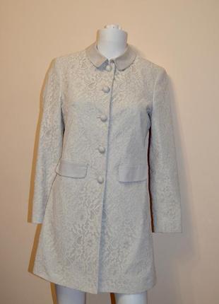 Шикарное кружевное пальто длинный жакет blugirl folies (blumarine)