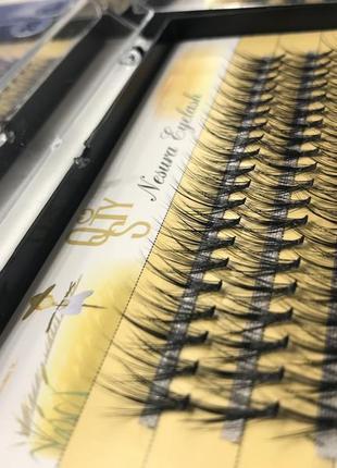 Пучковые ресницы, накладные ресницы, ресницы пучки, nesura ресницы