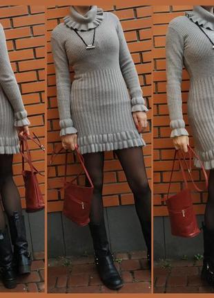 Платье шерсть кашемир р. l-xl