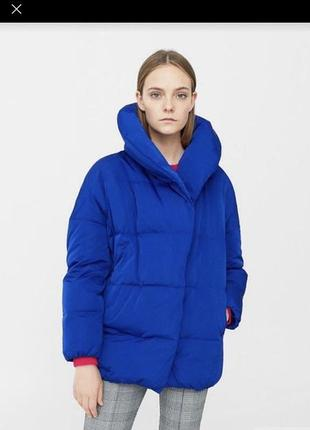 Модная oversize куртка пуховик mango оверсайз